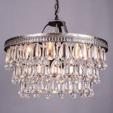 vintage big glass drops led crystal iron res chandeliers pendants modern e14 hanging lamp for kitchen living room bedroom in chandeliers from lights