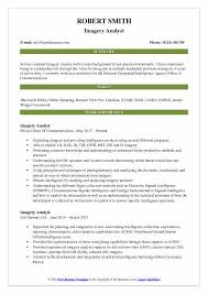 imagry analyst imagery analyst resume samples qwikresume