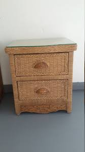 Pier One Imports Bedroom Furniture Wicker Rattan Nightstand Cottage Shabby Chic Bed Table Jamaica