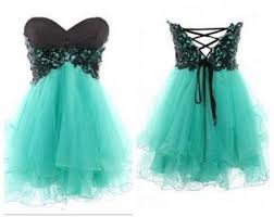 2015 Mint Green Strapless Homecoming Dresses With Black Lace Top