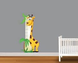 Cute Giraffe Growth Chart Vinyl Wall Art Decal Peel And Stick Sticker