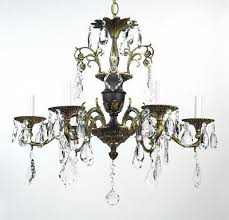 antique bronze chandelier crystal vintage tole black gold gilded french empire 441826837