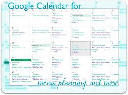 Online Planning Calendar Google Calendar For Menu Planning Simply Convivial