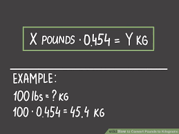 Chart Converting Pounds To Kilograms How To Convert Pounds To Kilograms 6 Steps With Pictures