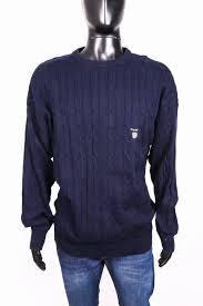 Mens Warmed Xxl Cotton Sweather Sweather Warmed Gant Black