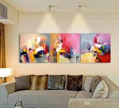 2018 no frame colorful abstract wall decor modern oil painting on canvas modern paintings decorations for home from cyon2017