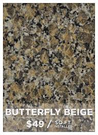 Butterfly Beige Granite granite styles cabinetry and stone depot 1585 by guidejewelry.us