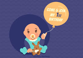 free vector 1st birthday invitation card free vector art stock graphics images