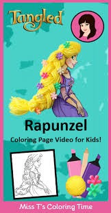 Print princess coloring pages for free and color our princess coloring! Tangled Rapunzel Coloring Page Video For Kids Watch Miss T Color And Decorate Disney Princess Coloring Pages Rapunzel Coloring Pages Princess Coloring Pages
