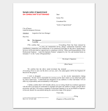 Contractor Appointment Letter 6 Samples In Word Pdf