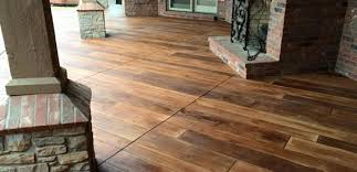 wood stamped concrete concrete wood