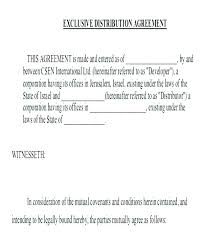 Distributor Contract Agreement Template Distribution Agreement