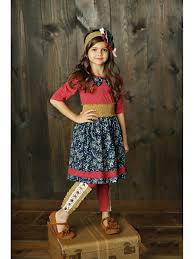 Mustard Pie Clothing Size Chart Mustard Pie Big Girls Woodland Magic Long Sleeve Laney Dress 2t 4