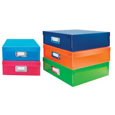 Document Boxes Color Set Of 5