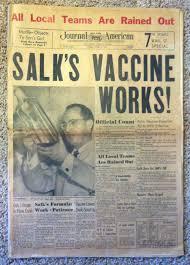 「1953 Salk announces polio vaccine」の画像検索結果