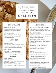 Pre Diabetic Diet Chart Gestational Diabetes Meal Plan Easy Healthy Meals My