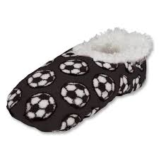 Snoozies Size Chart Snoozies Black Soccer Slippers Model 100 S282bw