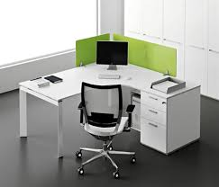 office desk design. Quite Office Desk Interior Designs Sets With U Shape White Table Plus Wooden Storage Drawers Black LCD And Chair Iron Design W