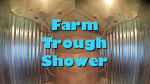 farm trough shower tiny house