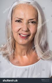 Attractive Youthful Fifty Year Old Woman Stock Photo 667354720