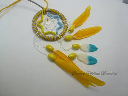Where To Buy Dream Catchers In Singapore YELLOW STAR FEATHER WITH BREASTMILK FEATHER GEM DREAM CATCHER 63