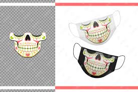 These free svg files work with silhouette, cricut, and other cutters. Funny Sugar Skull Hearts For Face Mask Graphic By Natariis Studio Creative Fabrica In 2020 Sugar Skull Design Cartoon Styles Graphic Design Pattern