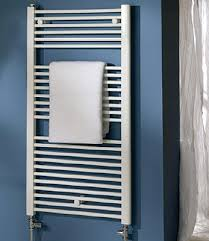 Space White Towel Radiator by MHS Electric Only Cast Iron