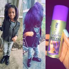 Little Black Girls Hairstyles Hairspray Purple Straight Hair