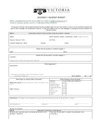 Injury Incident Report Template Police Report Template Word