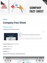 Company Fact Sheet Sample Company Fact Sheet Template Bit Ai Document Collaboration