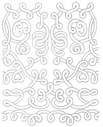 Lace pattern swirly designs on parchment