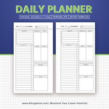 Daily Planner Printable 2019 To Do Personal Size Planner Inserts Planner Pages Planner Design Best Planner Refills Filofax Personal Instant
