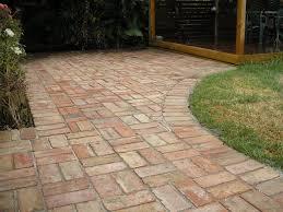Brick Patterns For Patios Basket Weave Brick Paving Leading To Deck C Matthews Landscapes