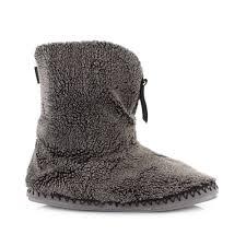 Mens Bedroom Athletics Slippers Mens Bedroom Athletics Crowe Black Fleece Cosy Slipper Boots Size