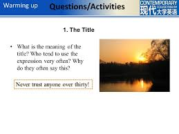 in my day russell baker ppt video online  4 questions activities