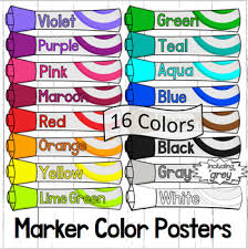 Color Posters Markers