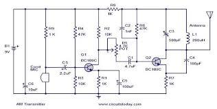 diy am transmitter circuit diagram components description am transmitter circuit