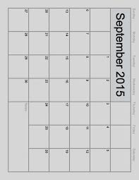 printable monthly blank calendar best of blank calendar template for 2015 templates co 2018 blank