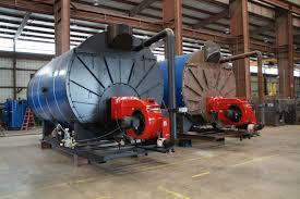 high pressure low emission scotch marine boiler pass series  two scotch marine boilers in final finish 1