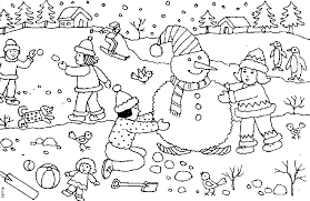 Small Picture Winter Scene Coloring Pages Coloring Page Snow Coloring Pages
