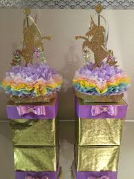 Designer Diaper Cakes Unicorn Centerpieces Created By A Unique Designer Gift