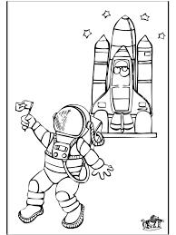 Astronaut 2 Kleurplaten Ruimtevaart