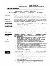 resume for desktop support