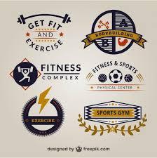 retro gym logo templates free vector