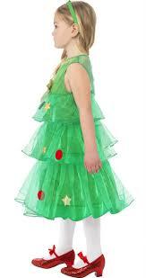 Cute Christmas Tree Dress For Girls 24332  Karnival Costumes  £1595Girls Christmas Tree Dress
