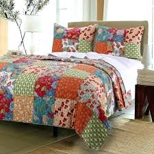 percent cotton quilts home fashions blossom quilt set king size 100 blosso