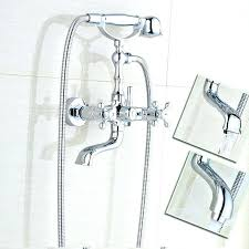 bathtub faucet with hand shower wall mounted tub faucet with hand shower plumbing bathroom wall faucet