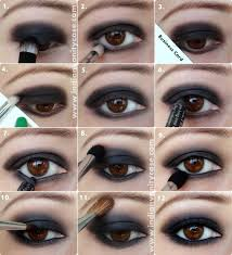 black smokey eyes tutorial