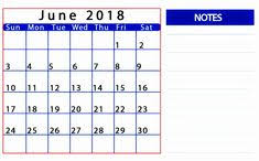 calendars with notes june 2018 student calendar notes 2018 printable calendars
