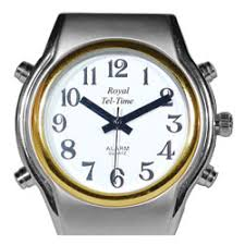 spanish talking watches spanish watches for the blind and low mens spanish royal tel time bi color talking watch leather band price
